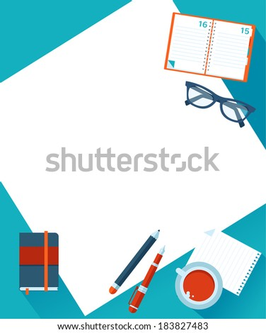 Business background with hands, vector - stock vector