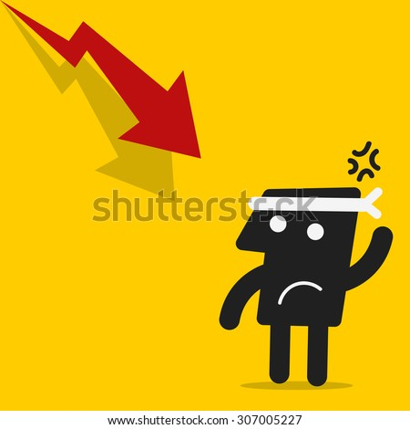 Business bad results chart - stock vector