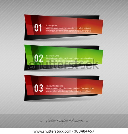 Business banner for infographic, web design, apps. Vector design elements. Full color stickers. - stock vector