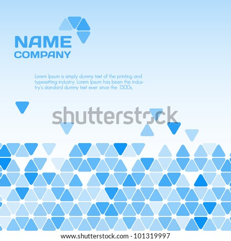 Business blue background - stock vector
