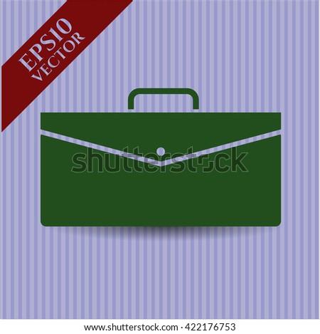 Business Briefcase icon, Business Briefcase icon vector, Business Briefcase icon symbol, Business Briefcase flat icon, Business Briefcase icon eps, Business Briefcase icon jpg - stock vector