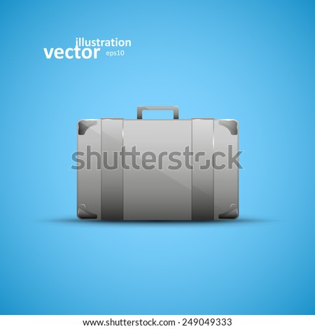 Business briefcase, modern vector icon, graphic design, stylish concept eps10 - stock vector
