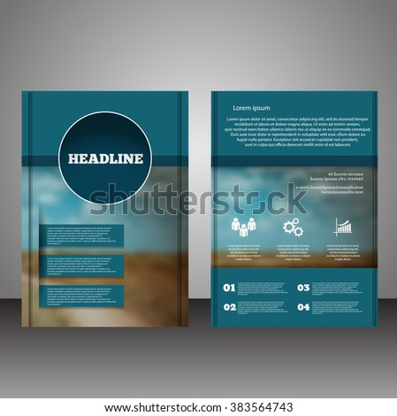 Business brochure flyer design layout template in A4 size with blur background vector eps10 - stock vector