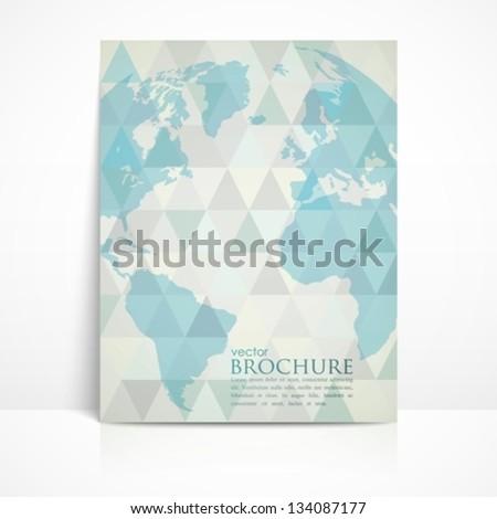 business brochure template - stock vector