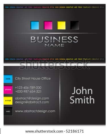 business card 43 - stock vector