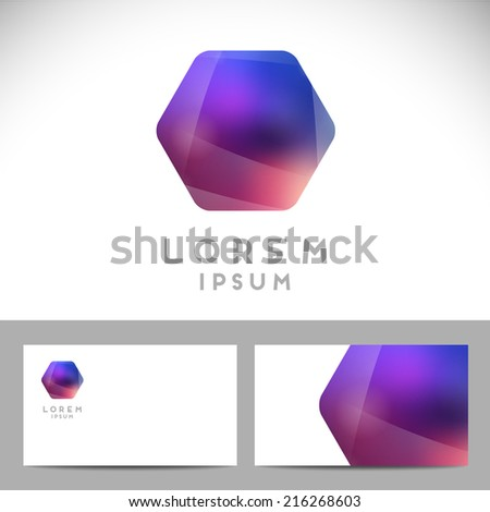 Business card design - stock vector