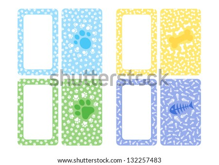 Business Card Design on dogs and cats - stock vector