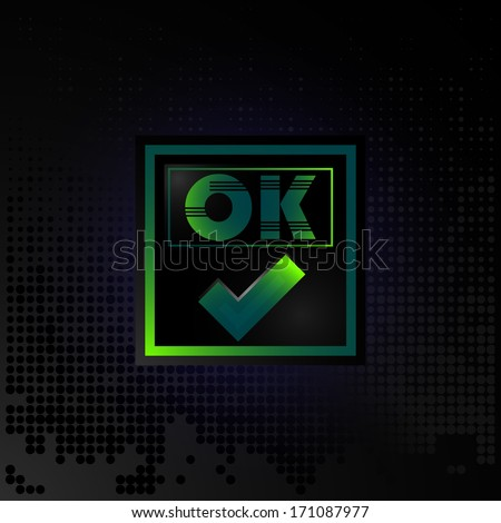 Business card OK, accepted icon, website element OK - stock vector