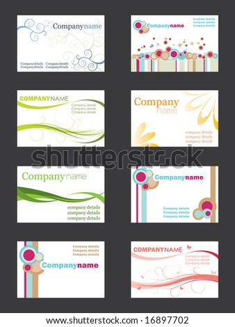 Business card set - stock vector