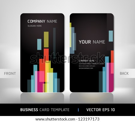 Business card set with abstract background. Vector illustration. - stock vector