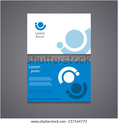 Business Card Set with abstract community icon, Vector EPS10,  - stock vector