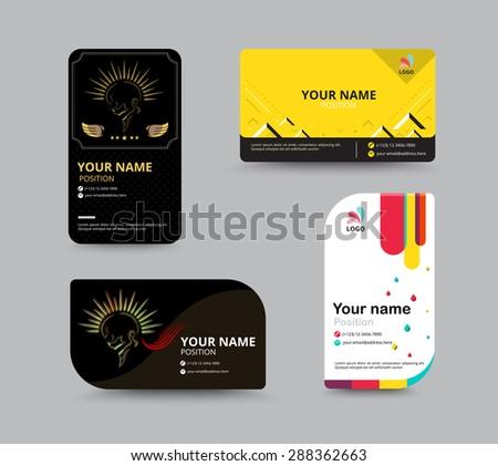 Staff Card Design Vector Card Layout Design Vector