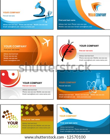 business card template design - vector file - stock vector