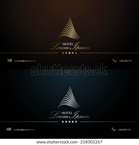 Business card template for hotel - vector illustration - stock vector