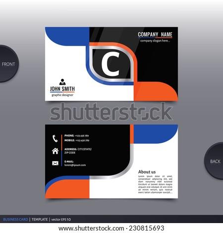 Business card template, modern abstract design. Vector. - stock vector
