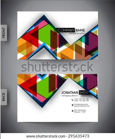 Business card template, vector design editable - stock vector