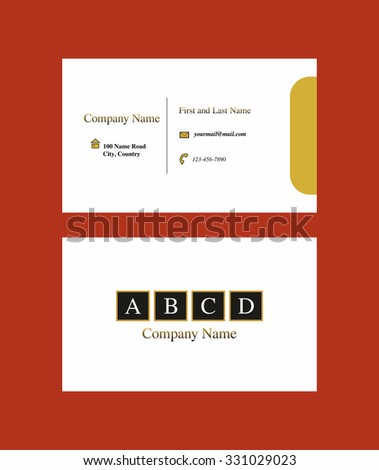 Business card with geometric logo design - stock vector