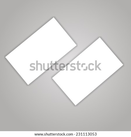 Business cards blank mock-up - template - stock vector