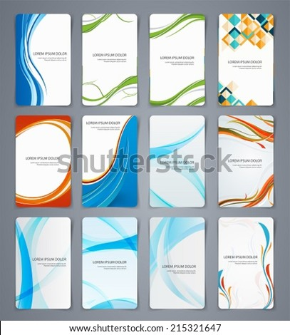 Business cards, brochures or banners. Set of templates for different coatings - stock vector