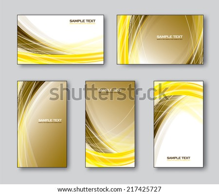 Business Cards or Gift Cards Templates. Eps10. - stock vector