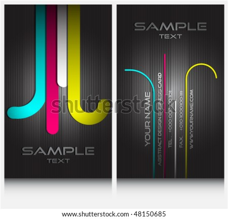 business cards set 35 - stock vector