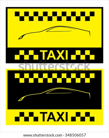 business cards taxi - set, vector template 10eps - stock vector