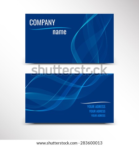 Business cards, template or visiting card set. Vector illustration. - stock vector