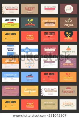 Business Cards Vector Template Big Set - stock vector