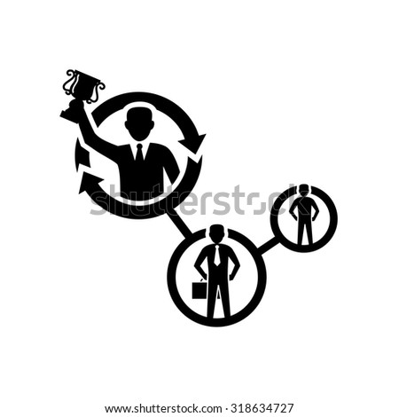 Business Career Path Growth Icon - stock vector