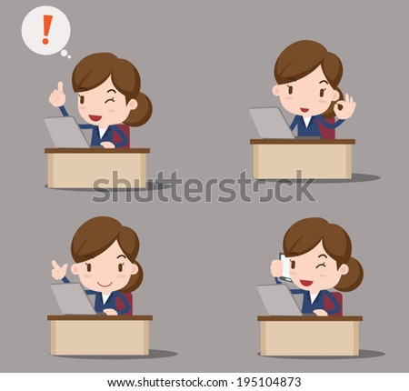 business character - at the office - stock vector
