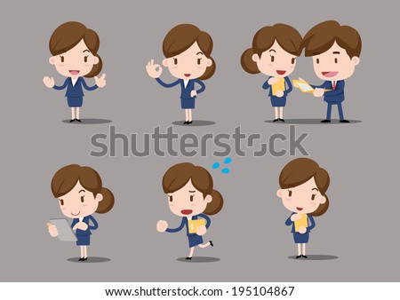 business character - work - stock vector