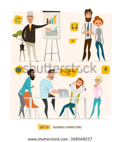 Business characters set - stock vector