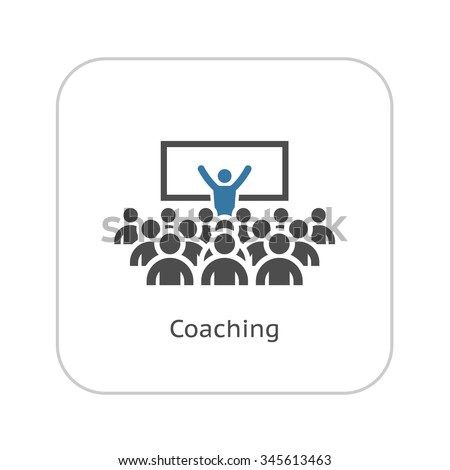 Business Coaching Concept Icon. Leadership Training. Team Building. - stock vector