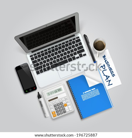 Business collage items. Vector - stock vector