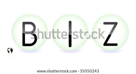 business communication on spheres - stock vector
