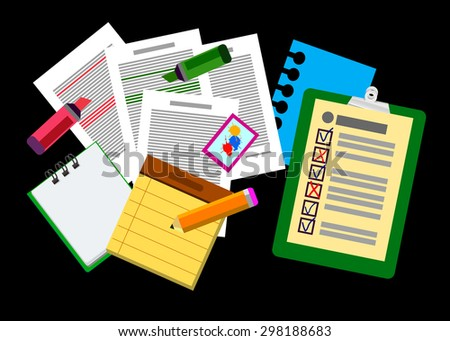 business computer vector desk icon office work - stock vector