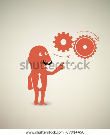 business & concept - stock vector