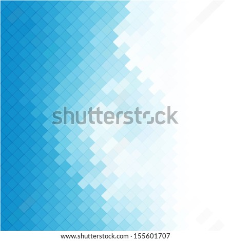 business concept abstract blue background with geometric mosaic shapes - stock vector