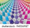 business concept, colorful argyle background illustration (ideal for brochure, flyer, cover design) - stock vector