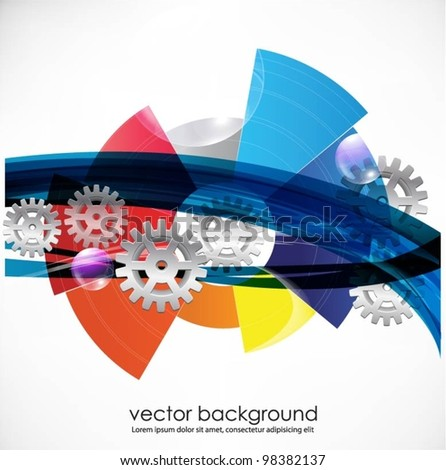 business concept design with gears.vector - stock vector
