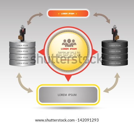 Business concept diagram / can use for business education / business brochure - stock vector