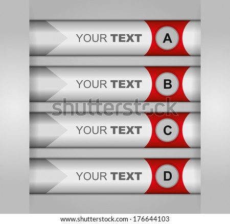 Business concept - flow chart with arrows - stock vector