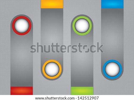 Business concept - flow chart with circle - stock vector