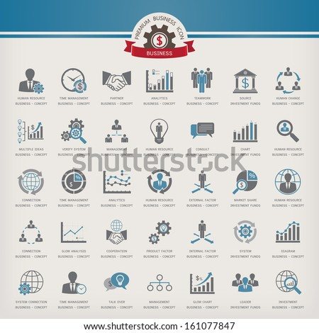 Business Concept Icon set - stock vector