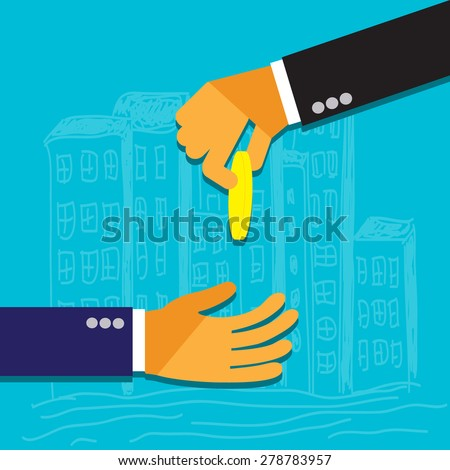 Business concept in flat design for mobile applications, web, business, SEO optimizations,  social networks, e-commerce, planning - stock vector