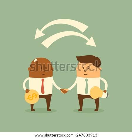 Business concept - Partnership - stock vector