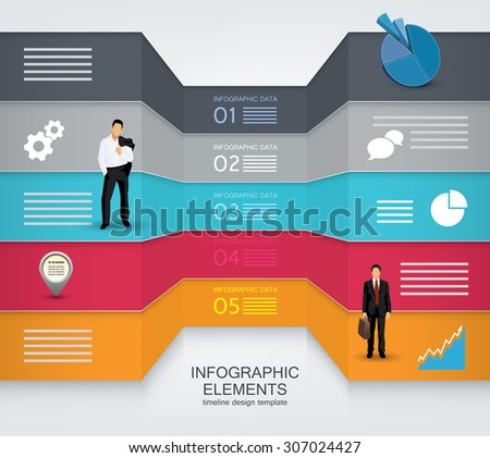 Business concept template - stock vector