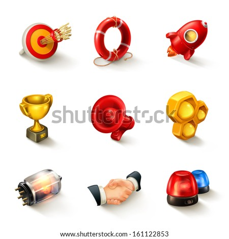 Business concept vector icon set - stock vector