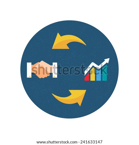 Business concept. Vector illustration, icon, flat style - stock vector
