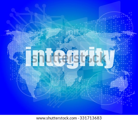 business concept: word integrity on digital background vector illustration - stock vector